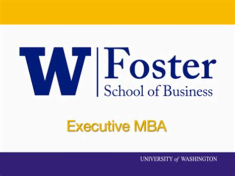 Foster School Of Business Mba by Michael G Foster School Of Business On Vimeo