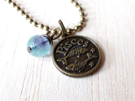 pisces necklace pisces jewelry zodiac jewelry pisces gifts