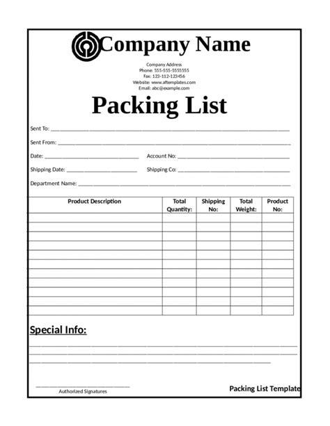 packing slip template docs packing list template list template trakore document