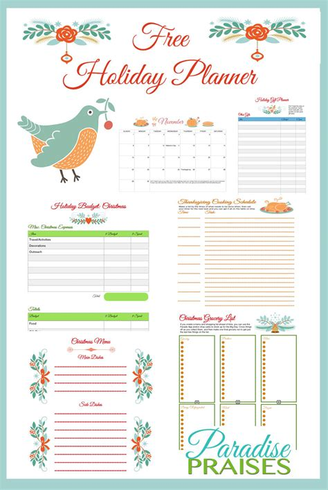 printable a3 holiday planner 2015 free printable holiday planner