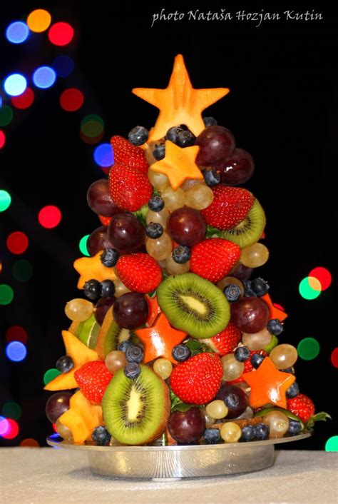 fruit christmas tree cuisine pinterest