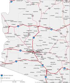 map of arizona cities arizona road map
