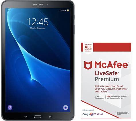 Tab Samsung Kisaran 1 Juta samsung galaxy tab a 10 1 quot tablet mcafee livesafe premium bundle black deals pc world