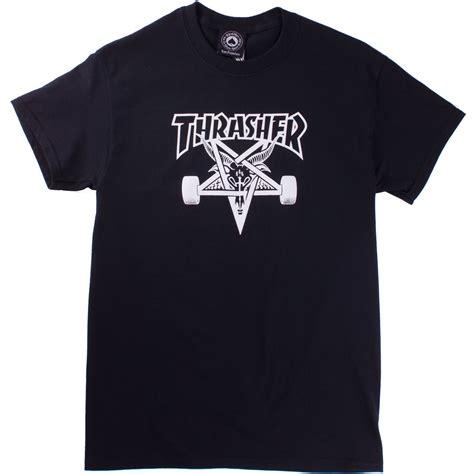 design t shirt rollerblade thrasher skate goat t shirt black