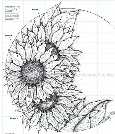 relief carving patterns sunflower clock woodarchivist