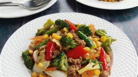 resep cah sayur warna warni masak  hari