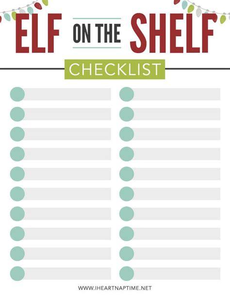 elf   shelf calendar  checklist  heart naptime elf   shelf elf