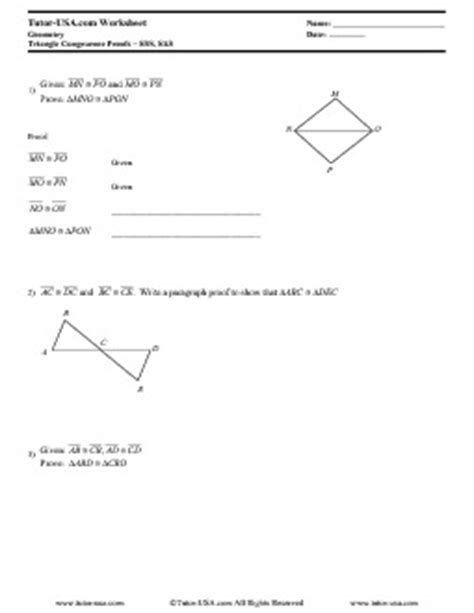 Cpctc Proofs Worksheet With Answers by Cpctc Worksheet Lesupercoin Printables Worksheets