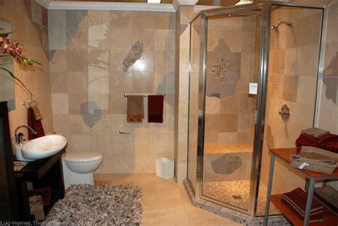 Log Cabin Shower Curtain - shower stall decorating ideas