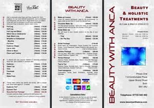 Salon Price List Template Free Beauty Salon Price List Template Free