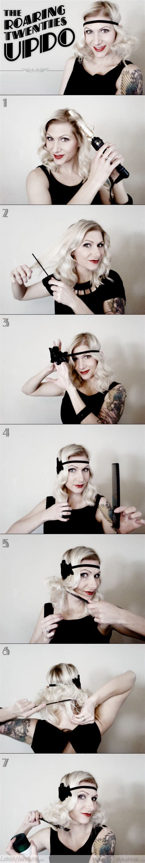 roaring 20s short hairstyle tutorial vintage updos 2 easy ways to create a vintage updo