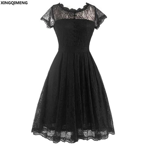 stock cheap simple  black dress lace short