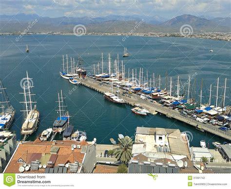 porto della turchia porto di fethiye turchia fotografia stock immagine