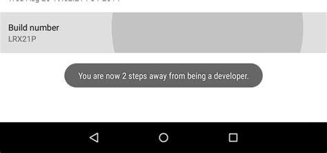 enable developer options   nexus nexus