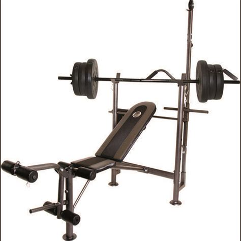 academy weight bench cap barbell combo bench with 80 lb weight set fitness