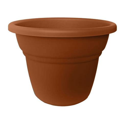 Bloem 24 In Terra Cotta Plastic Milano Planter Mp2024 46 Terra Cotta Planter