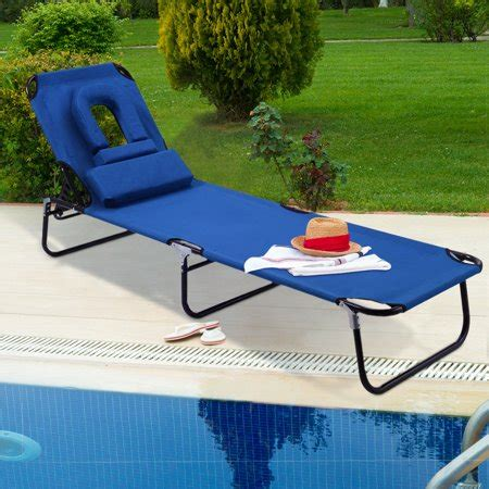 pool lounge chairs walmart costway patio foldable chaise lounge chair bed outdoor