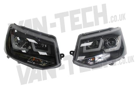 led lights for cer vans vw t5 1 led drl light bar headlights 2010 2015 van tech