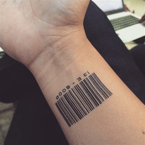 barcode tattoos for men wrist barcode for creativefan