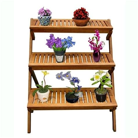 vifah outdoor wood  layer plant stand  plant