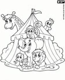 circus train pages coloring pages