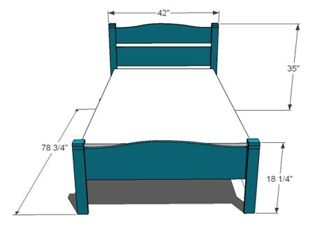 measurements of a twin bed ana white pioneer bed twin diy projects