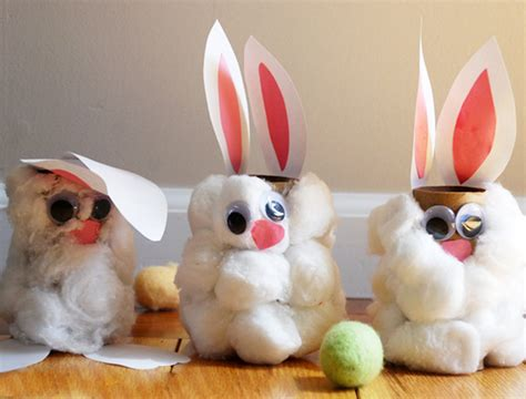 Bunny Toilet Paper Roll Craft - 62 easy easter craft ideas for personal creations