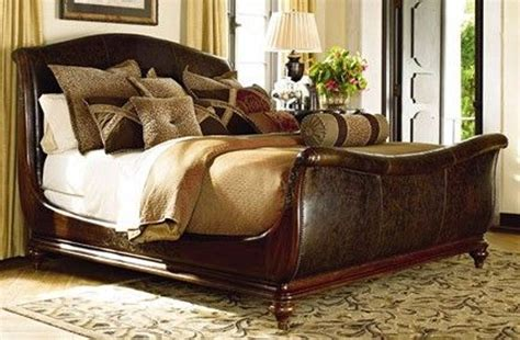 leather sleigh bed king set vine dine king bed black leather sleigh bed king