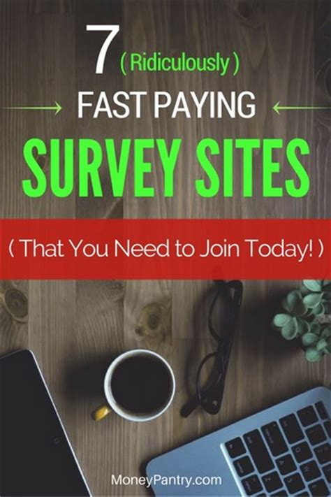 Surveys That Pay Good Money - 7 survey sites that pay fast some with instant cash paypal payments moneypantry