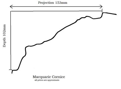 cornice dimensions macquarie cornice