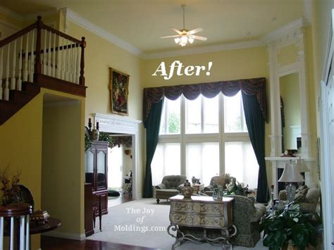 Living Room Crown Molding Before And After Before After Great Room Remodel The Of Moldings