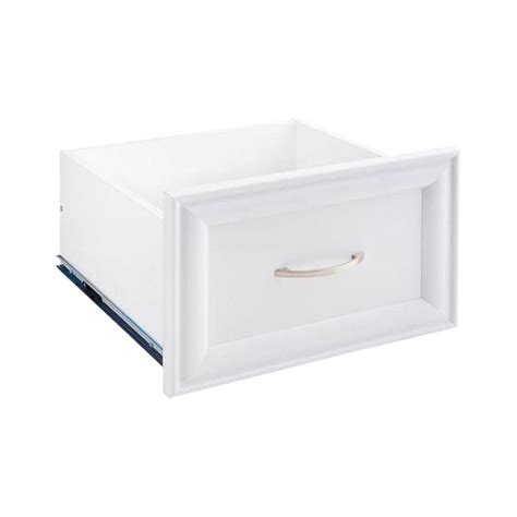 closetmaid selectives 16 in white closetmaid 16 in x 10 in white decorative drawer 4943