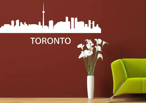 wall stickers toronto skyline toronto architecture wall stickers adhesive wall sticker