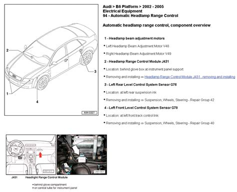audi a4 headlight wiring diagram autocurate net