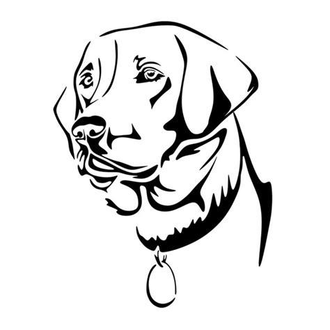 design lab outline labrador dog lab svg cuttable designs