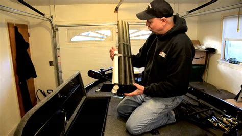 bass boat rod tubes how to modify rod storage on a bass boat youtube