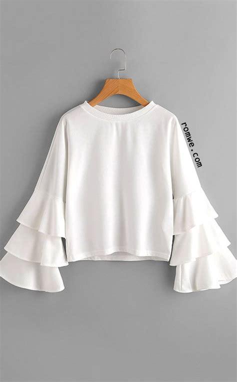 Ruffle Blouse White Sleeve by White Neck Ruffle Sleeve Blouse Top Blouse