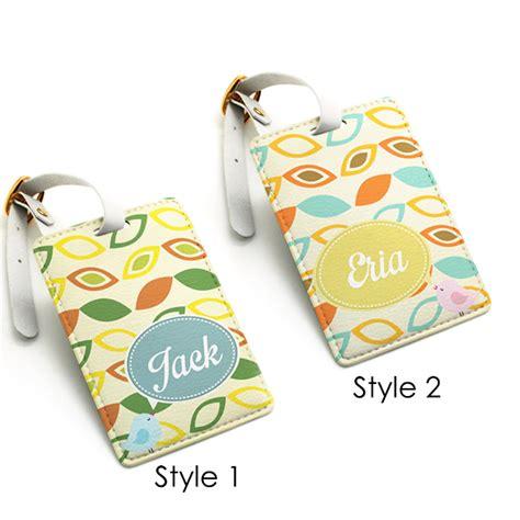 Bagluggage Tag Design custom made personalized pu leather luggage tag wedding favor tag travel bag tag modern bird