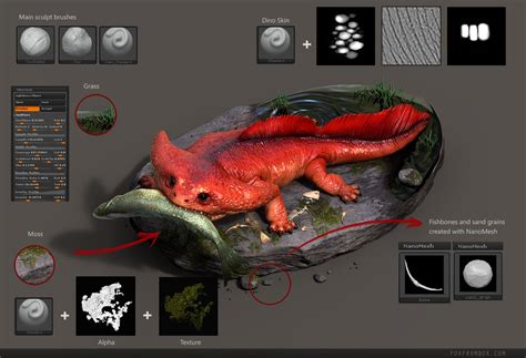 tutorial video keyshot diplocaulus dino sculpt for jurassic world game made in