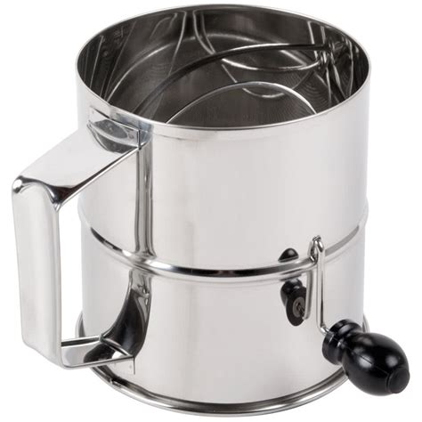Flour Sifter 8 cup stainless steel rotary flour sifter