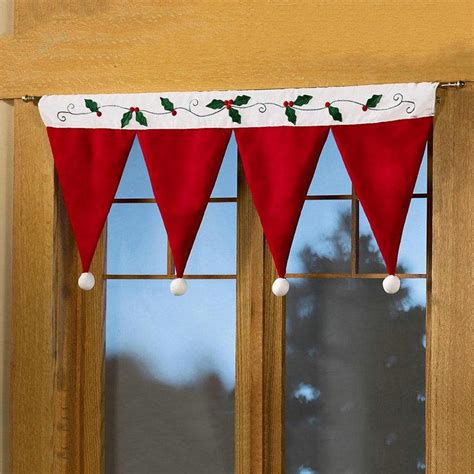 new year cloth decoration happy new year merry hat curtain drape panel