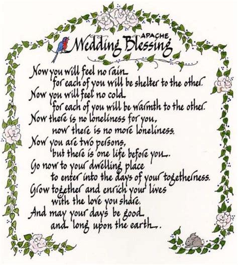 american wedding blessing apache wedding blessing