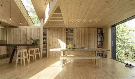 cross laminated timber house designed and constructed by