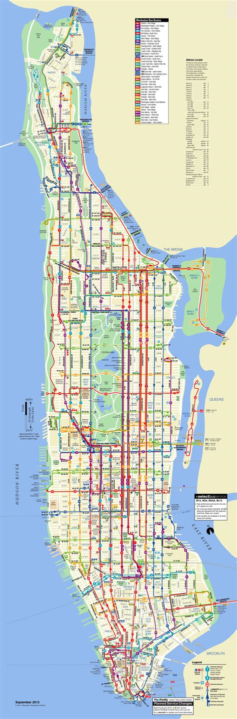 map of ny manhattan image gallery nyc routes