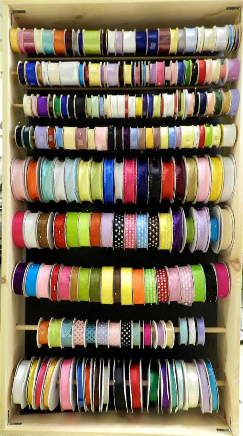 Wooden Ribbon Rack sewing and crafting with wooden ribbon rack tutorial