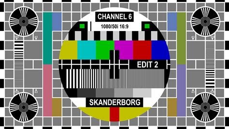 test pattern full hd channel 6 television denmark test patterns english