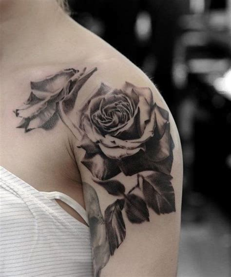 roses tattoo black and white top 16 sophisticated black ideas on shoulder