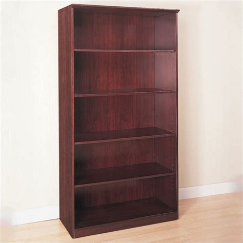 5 Wall Shelf by Mayline Corsica 5 Shelf Open Bookcase In Mahogany 4212 Features