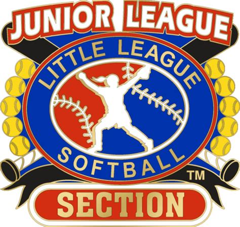 Section 4 League Ny by 1 1 4 Quot Junior League Section Softball Pin Dph Custom Pins