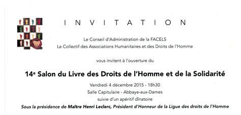 Exemple De Lettre D Invitation à Un Salon Ligue Des Droits De L Homme Poitou Charentes Ev 233 Nements Archives Ligue Des Droits De L Homme